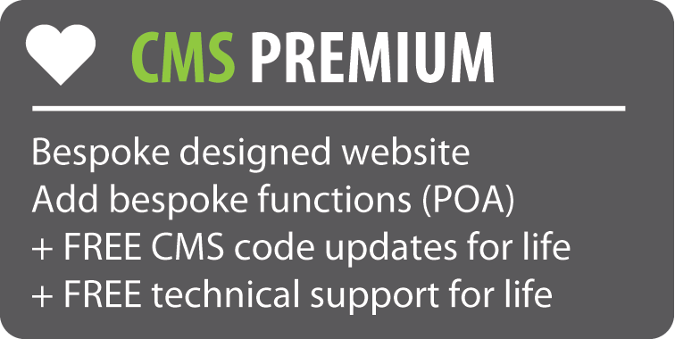 CMS Premium websites include a bespoke design
