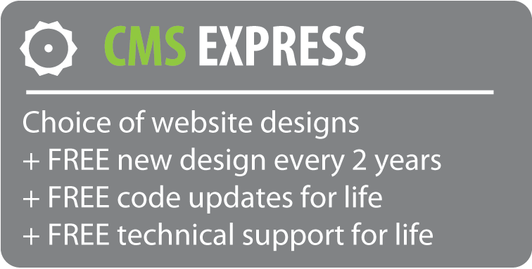 CMS Express websites include a ready-made design